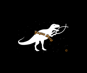 Sticker Dino white