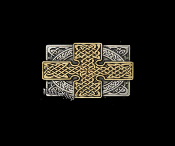 Belt buckle Celtic cross Óir