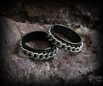 Ring Chain - black - 316L