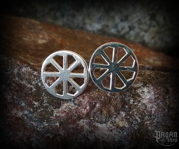 Stud earrings Kolovrat Slavica - 925 sterling silver