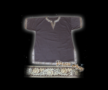 Tunic with edging brown