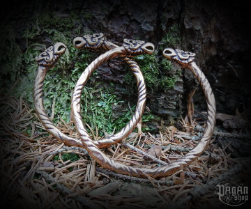 Bracelet Hugin and Munin - bronze