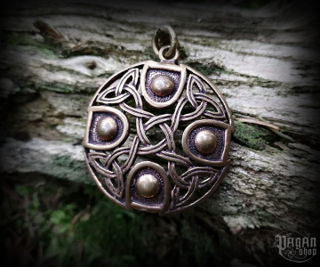 Pendant Celtic cross Zizar - bronze