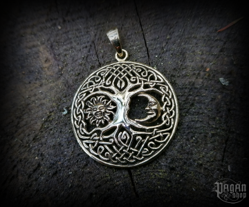 Pendant Tree of life Bara - bronze