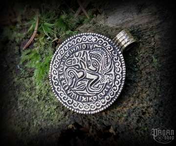 Pendant Odin and Sleipnir Bracteate - bronze