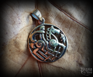 Pendant Odin and Sleipnir Rída - bronze