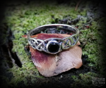Ring Tamia with black crystal - 925 sterling silver