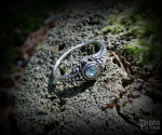 Ring Amara with light blue crystal - 925 sterling silver