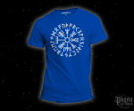 T-shirt Vegvisir Futhark light blue