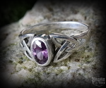 Ring Mythia with purple crystal - 925 sterling silver