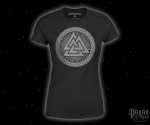 Women's T-shirt Valknut - grey print