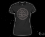 Women's T-shirt Valknut - black print